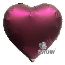 """Foil Heart, Burgundy 18"""" (45cm.)"""