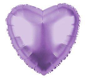 """Foil Heart, Lilac 18"""" (45cm.)"""