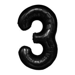 """Number """"3"""" Black (100cm.)"""