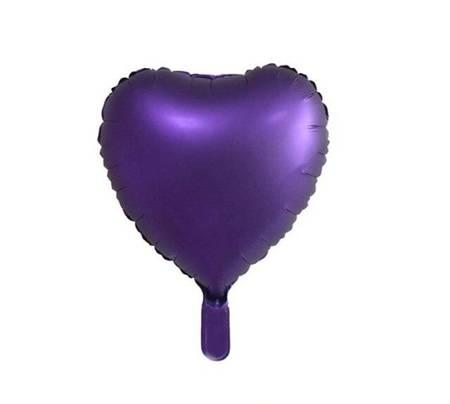 "Foil Heart, Purple 18"" (45cm.)"