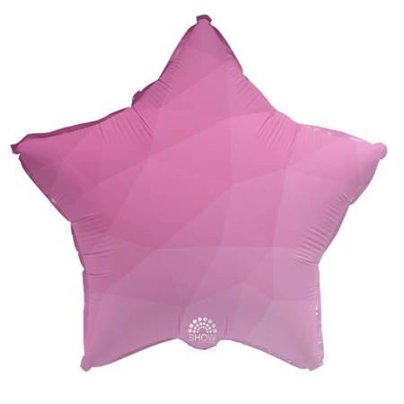 """Foil Star, Pink Gradient 18"""" (45cm.)"""