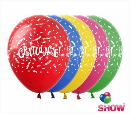 """SHOW™ 12"""" """"Gratulacje"""" (10 pcs.)"""