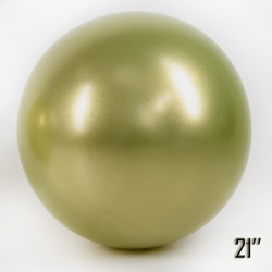 """Balon  21"""" CHROME,  Złoty Oliwkowy (1 szt.)"""