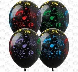 """Balony 12""""  """"Kosmos"""" (10 szt.)"""