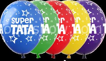 "Balony ""Super TATA"" (10 szt.)"
