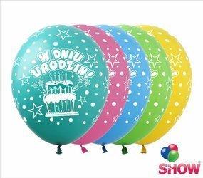 """Balony """"W Dniu Urodzin"""" (10 szt.)"""