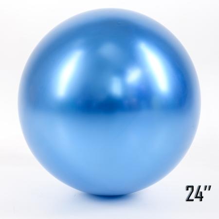 """Balon  24"""" CHROME,  Niebieski (1 szt.)"""