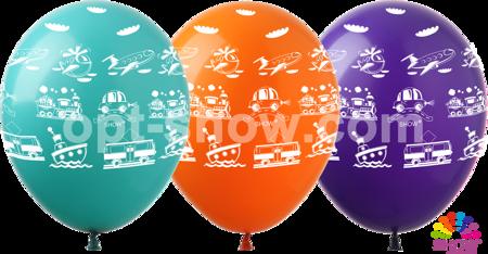 """Balony 12""""  """"Transport"""" (10 szt.)"""