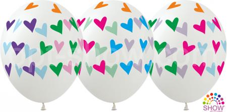 """Balony """"Kolorowe Serca """" (10 szt.)"""